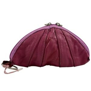 Novin washed Leather Purple Shell coin purse
